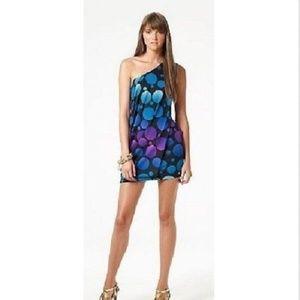 DVF Silk Knit Juan Calypso One Shoulder Dress